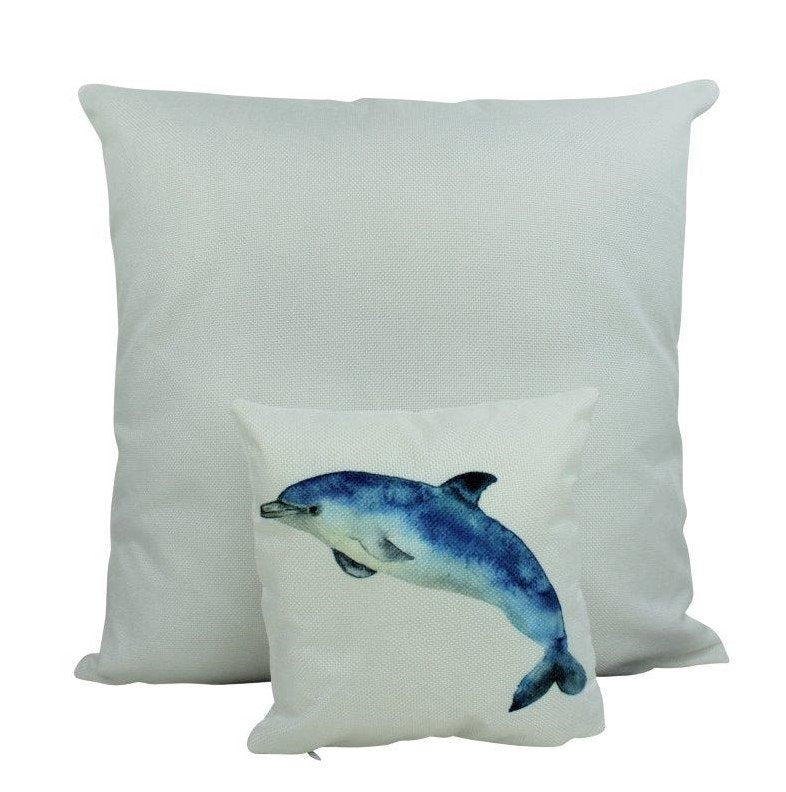 MINI: Dolphin | Pillow | 8 x 8 | Throw Pillow | Dolphin Pillow | Ocean Lover | Sea Decor | Tiny House Decor | Lumbar Pillow