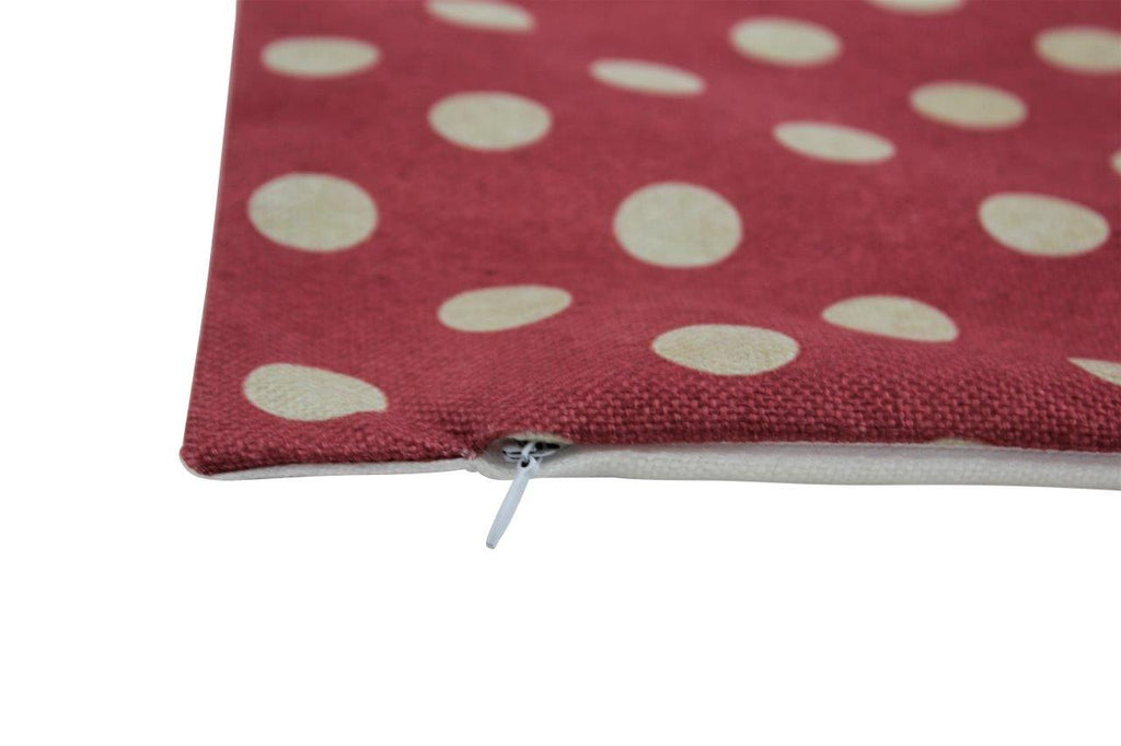 Pink and white Polka Dots | 12x12  Pillow Cover | Solid Accent Pillows | Polka Dot Pillow