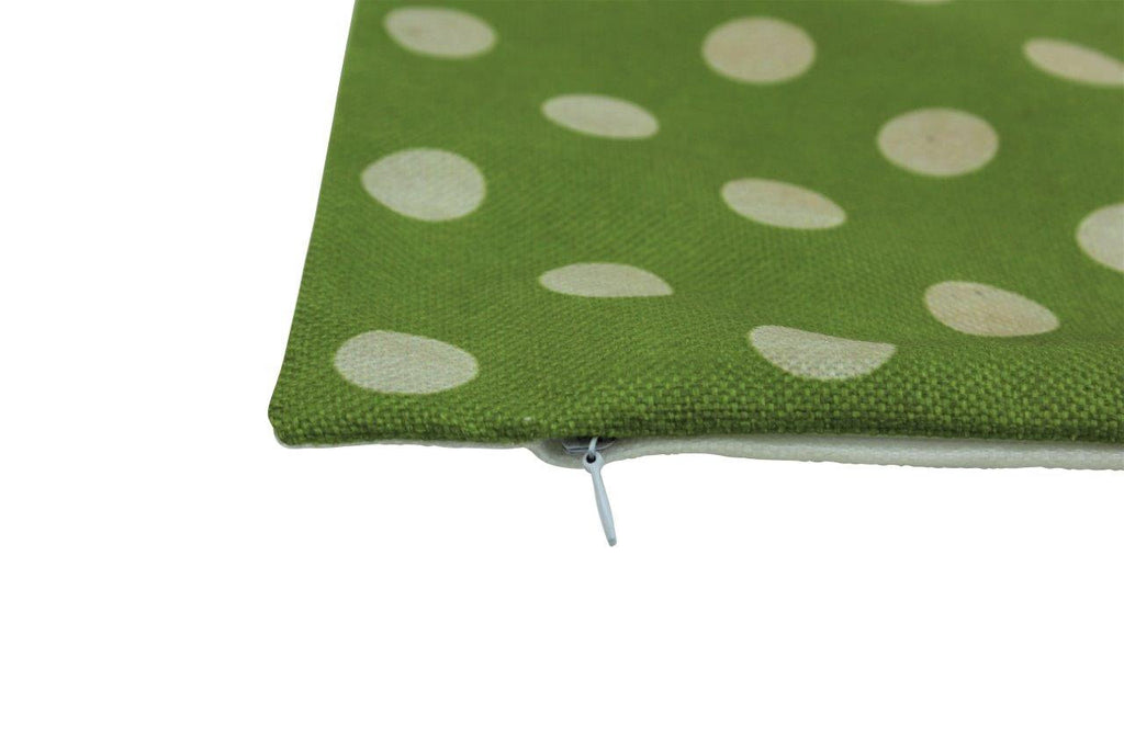 Green and white Polka Dots | 12x12  Pillow Cover | Solid Accent Pillows | Polka Dot Pillow