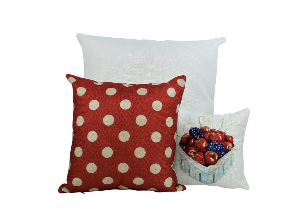 Red and white Polka Dots |   Pillow Cover | Solid Accent Pillows | Polka Dot Pillow | Best Place to Buy Throw Pillows | Red Throw PIllows