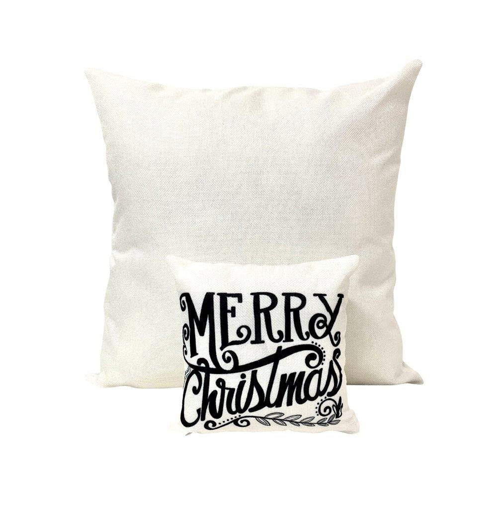 Mini Merry Christmas White | Christmas decor | Pillow 8 x 8 | Home Decor | Primitive Decor