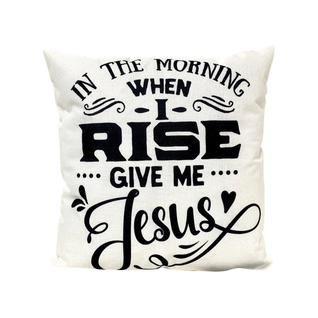 In the Morning when I rise give me Jesus | Gospel Decor | Home Decor | Faith Gift | Famous Quotes | Motivational Quotes | Bedroom Decor