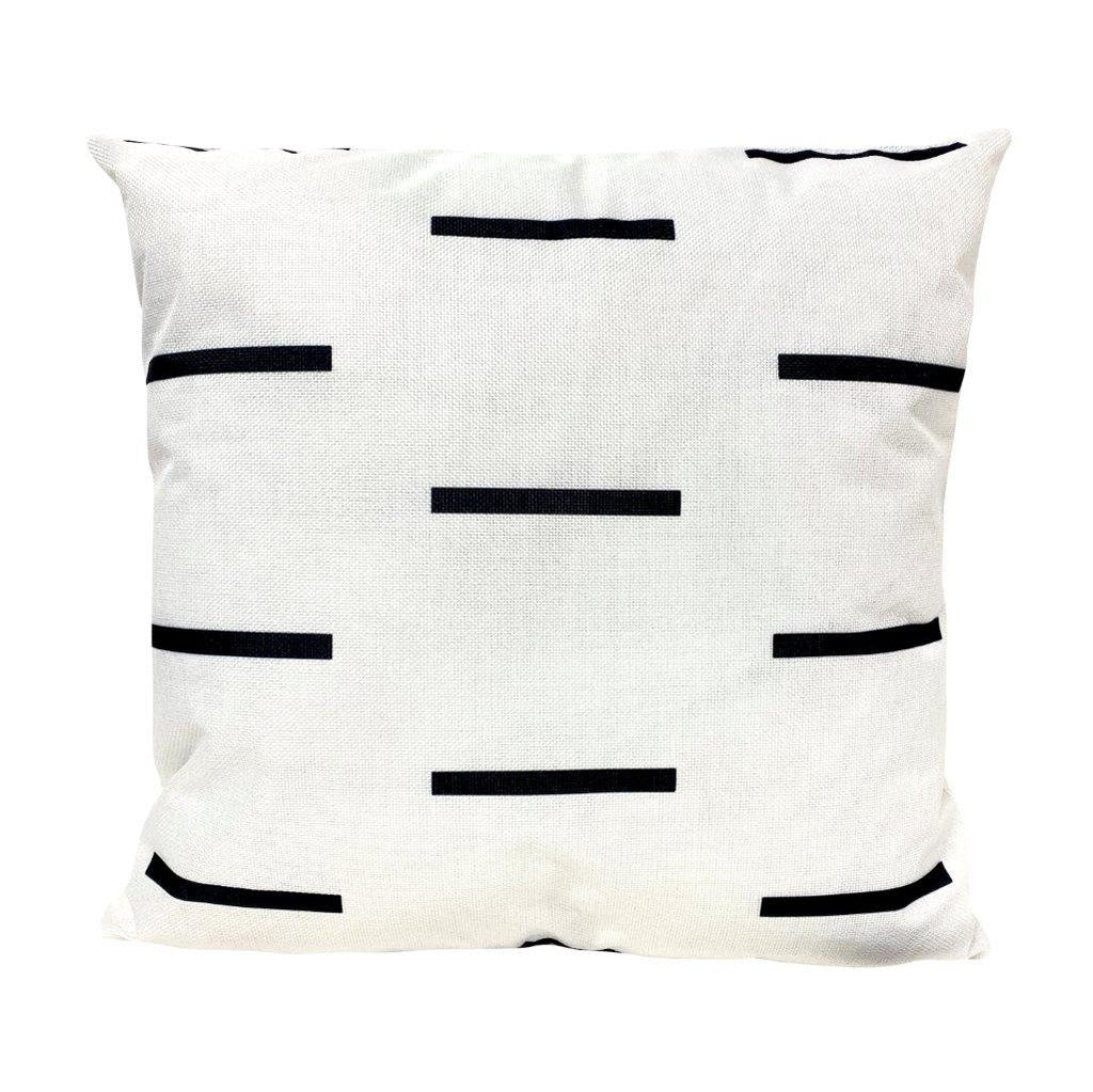 White with Black Line Pattern Pillow Cover | Modern Farmhouse | Minimalist | Luxury Throw Pillows | Beautiful Throw Pillow | High End Pillow