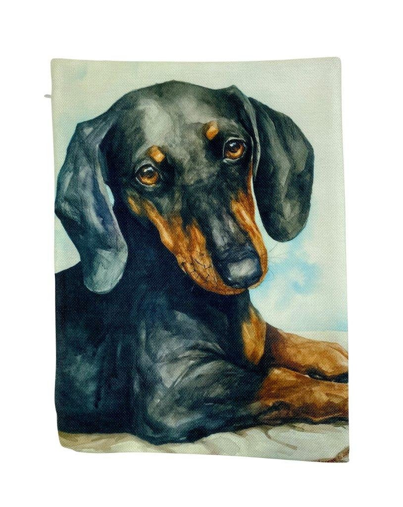 Dog | Dachshund Watercolor | Pillow Cover | Dog Lover | Home Decor | 12x18  | Dog Lover Gift | Dog Mom Gift | Dog Mom Gift | Pillows