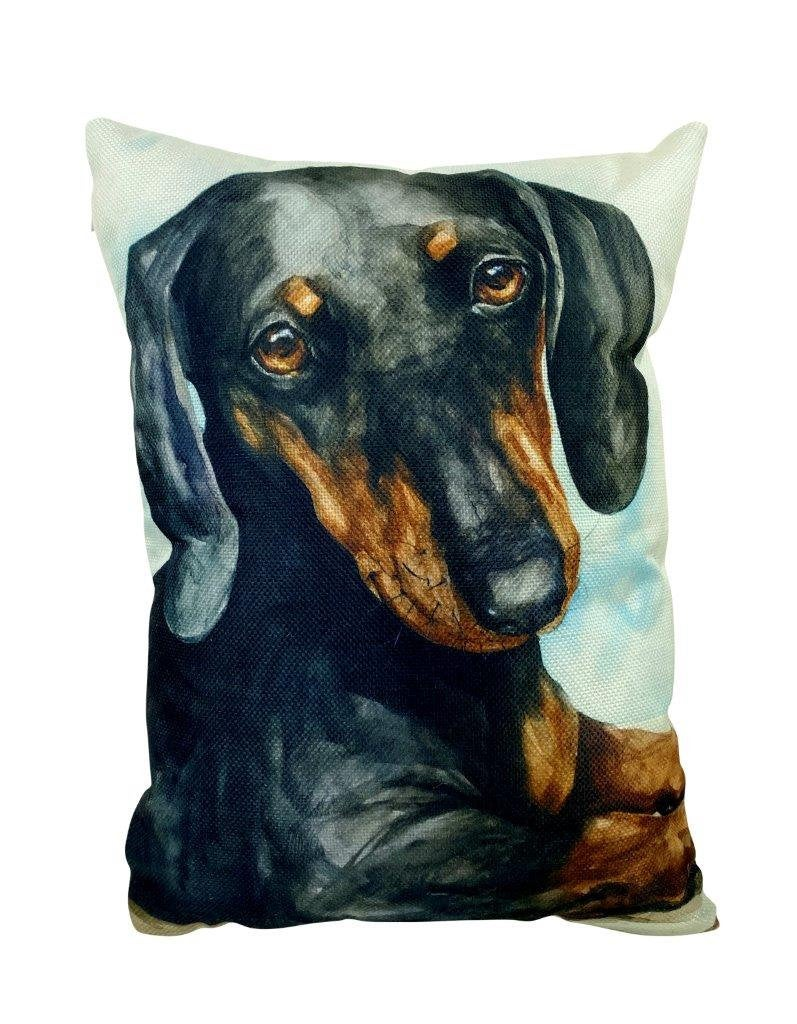 Dachshund Watercolor | Pillow Cover | Dog Lover | Home Decor | 12x18