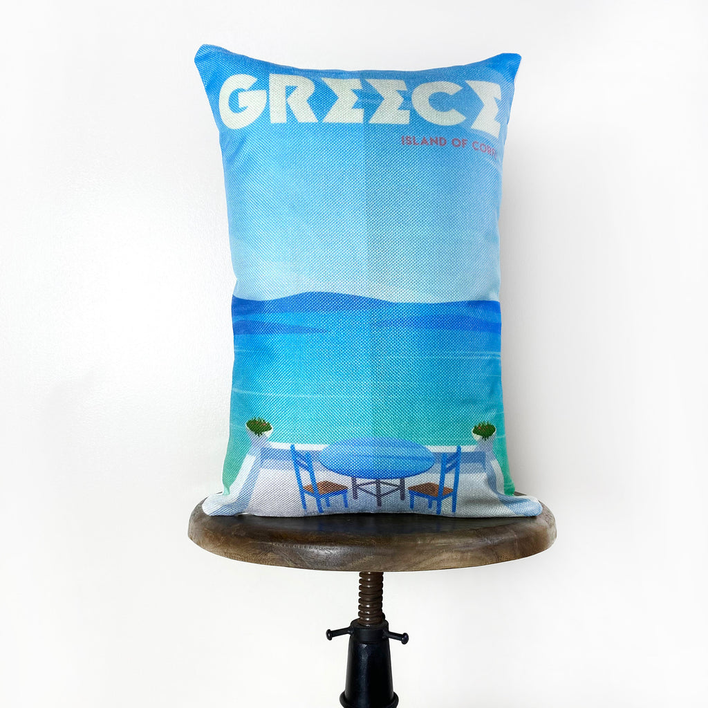 Greece | Adventure Time | Pillow Cover | Wanderlust | Throw Pillow | Travel Pillow | Pillow | Home
