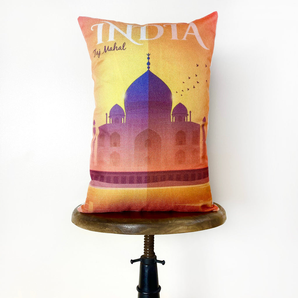 India | Adventure Time | Pillow Cover | Wander lust | Throw Pillow | Travel Decor | Travel Gifts | Gift for Friend | Gifts for Women