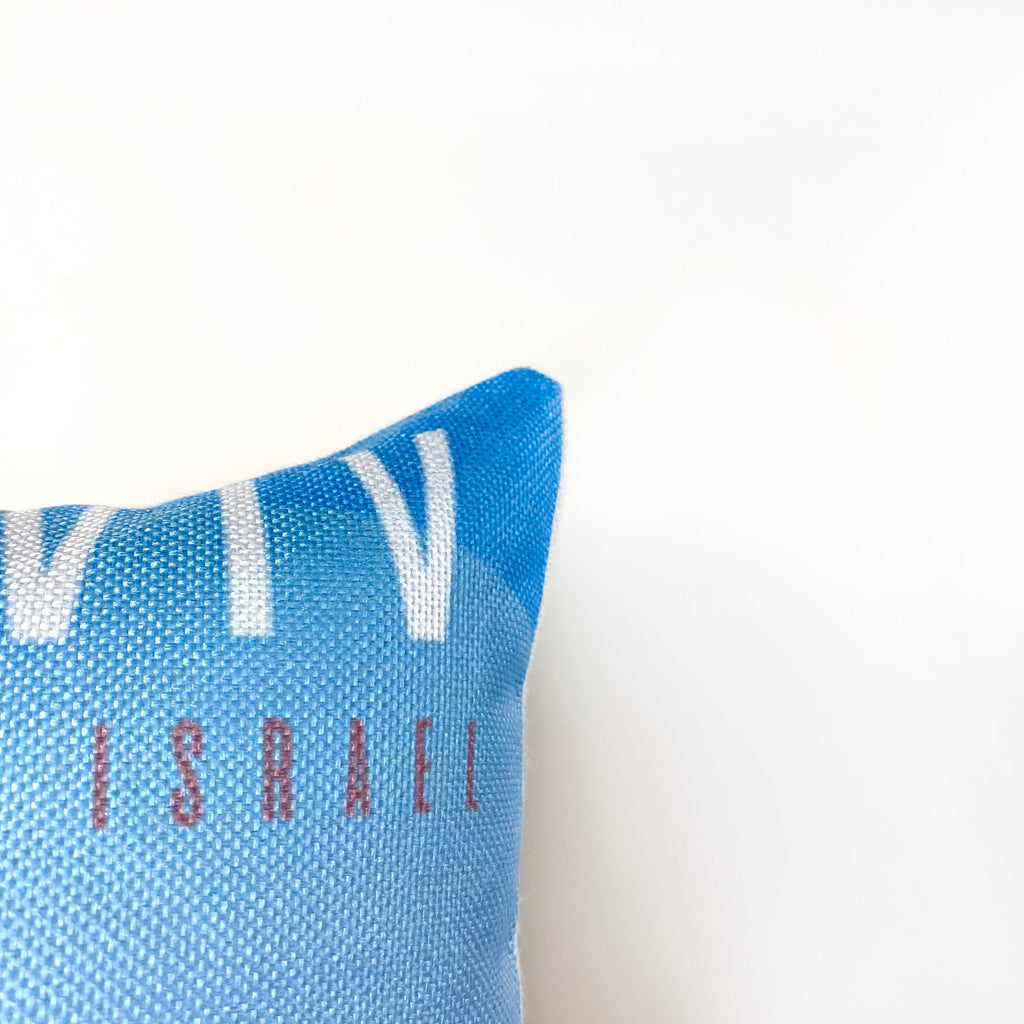 Tel Aviv | Adventure Time | Pillow Cover | Wander lust | Throw Pillow | Travel Decor | Travel Gifts | Gift for Friend | Gifts for Women