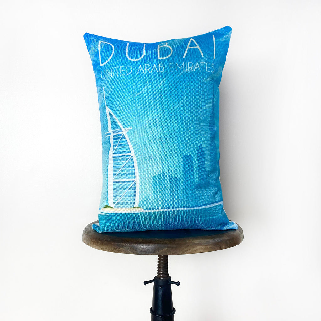 Dubai  | Adventure Time | Pillow Cover | Wander lust | Throw Pillow | Travel Decor | Travel Gifts | Gift for Friend | Gifts for Women
