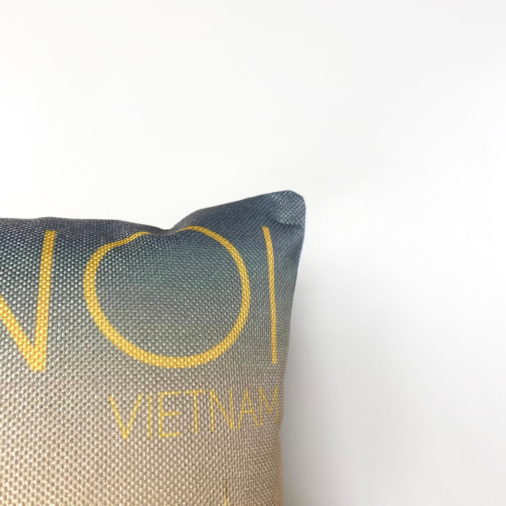 Hanoi | Adventure Time | Pillow Cover | Wander lust | Throw Pillow | Travel Decor | Travel Gifts | Gift for Friend | Gifts for Women