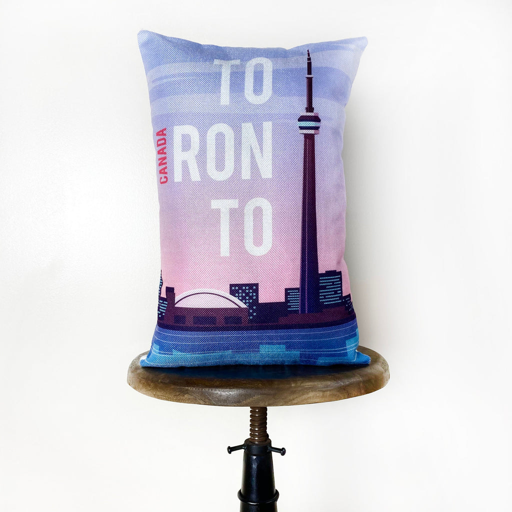 Toronto  | Adventure Time | Pillow Cover | Wander lust | Throw Pillow | Travel Decor | Travel Gifts | Gift for Friend | Gifts for Women
