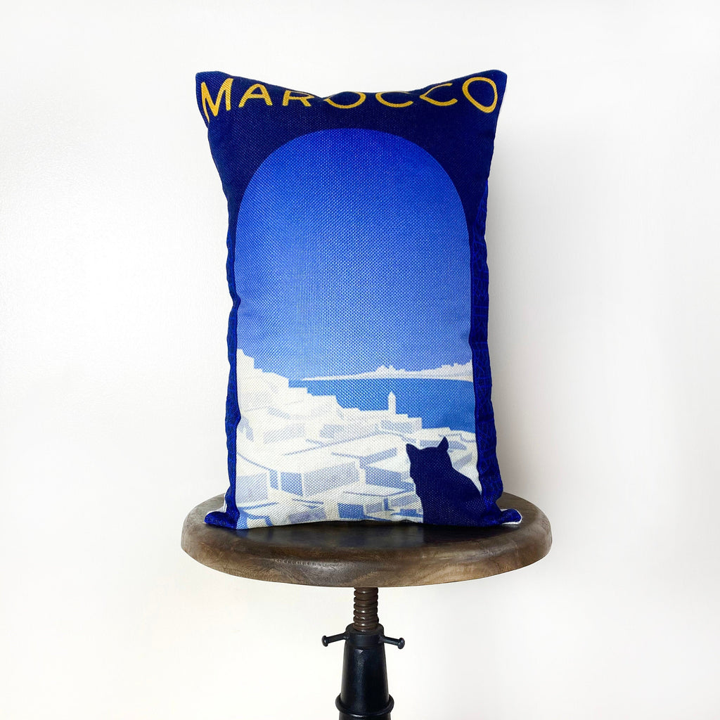 Morocco | Adventure Time | Pillow Cover | Wanderlust | Throw Pillow | Travel Pillow | Ocean | Home