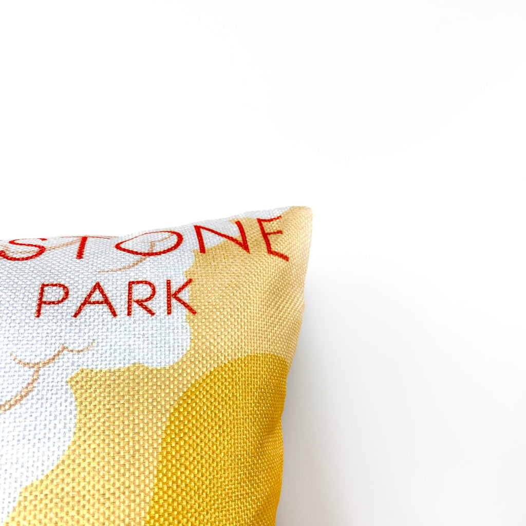 Yellowstone Adventure Travel Throw Pillow Cover | 18x12