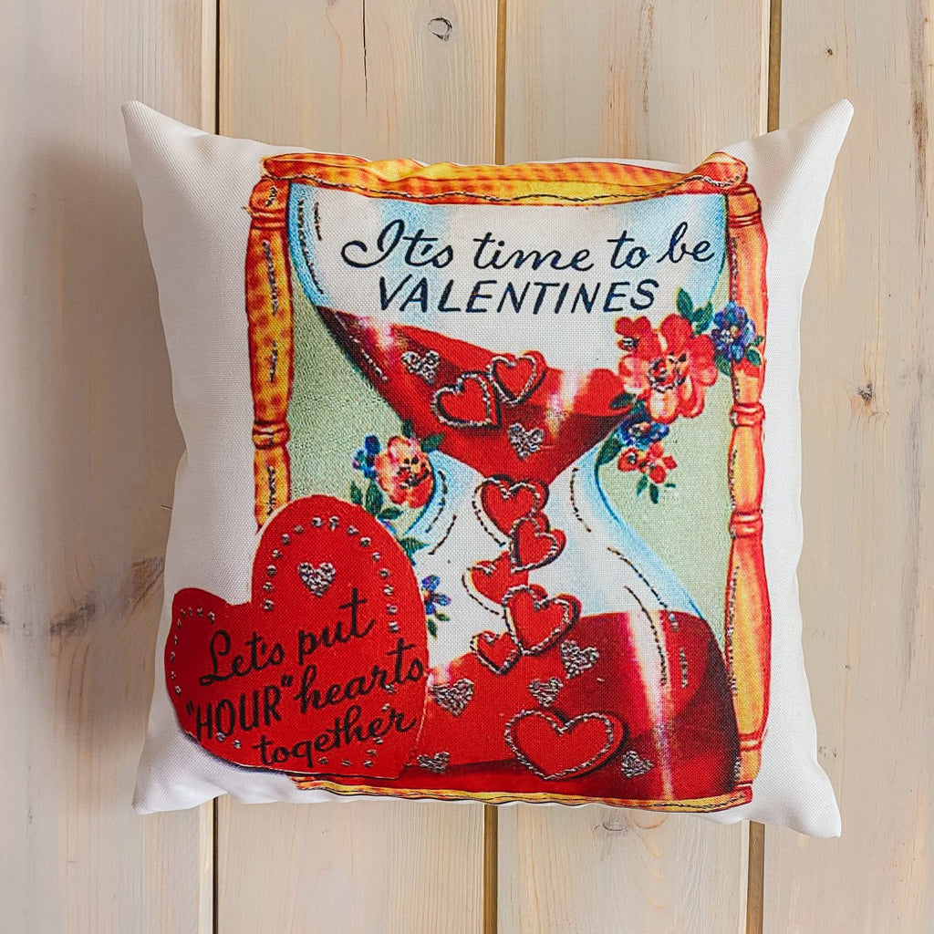 It's time to be Vintage Valentines | 16x16 Pillow Cover | Valentine card motifs | Throw Pillow