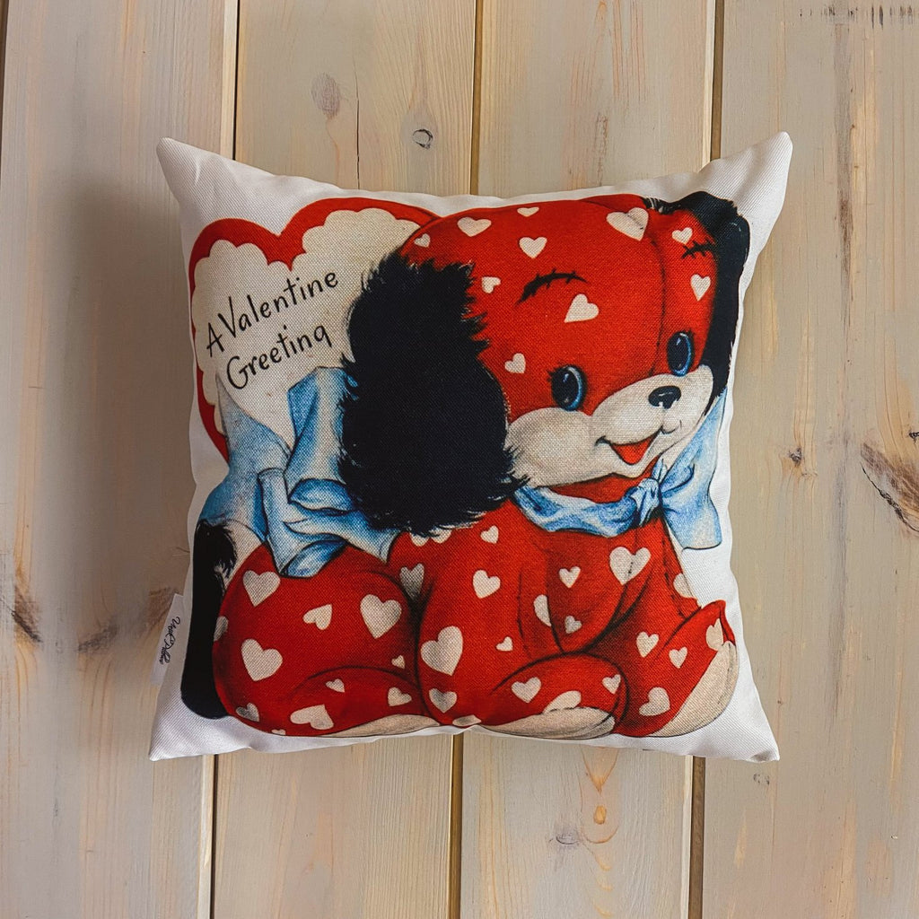 For You on Valentines Day | 16x16 Pillow Cover | Valentine card motifs | Throw Pillow