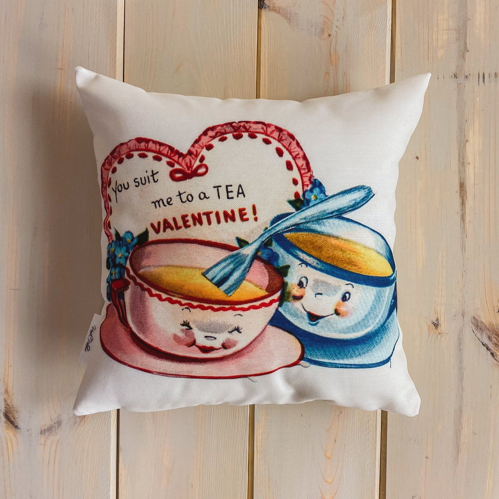 You're Sweet Valentines | 16x16 Pillow Cover | Valentine card motifs | Throw Pillow