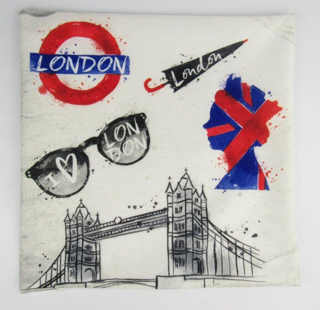 Great Britain | London England | Pillow Cover | Throw Pillow | Home Decor | London Bridge | Gifts for Travelers | Unique Friend Gift