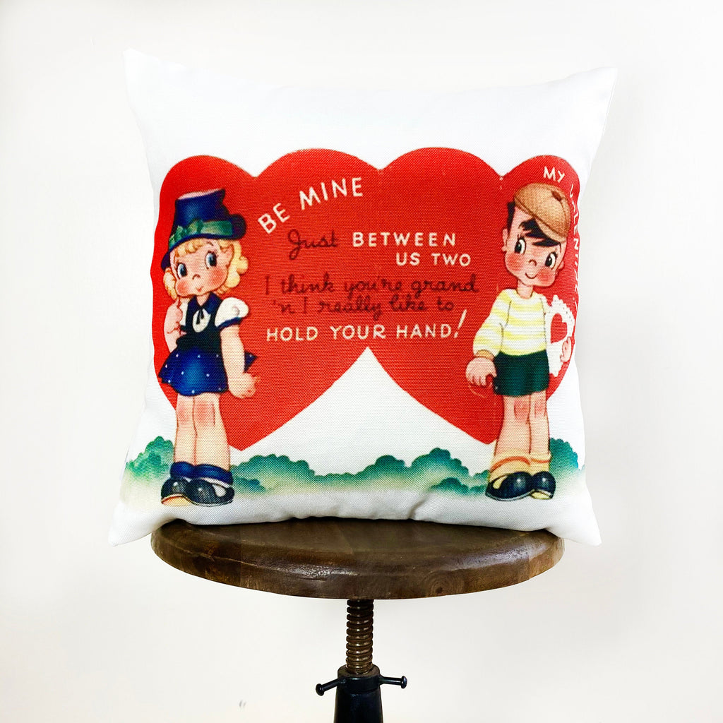 I'm Pie-ning for you Valentine Vintage Valentines | 16x16 Pillow Cover | Valentine card motifs | Throw Pillow