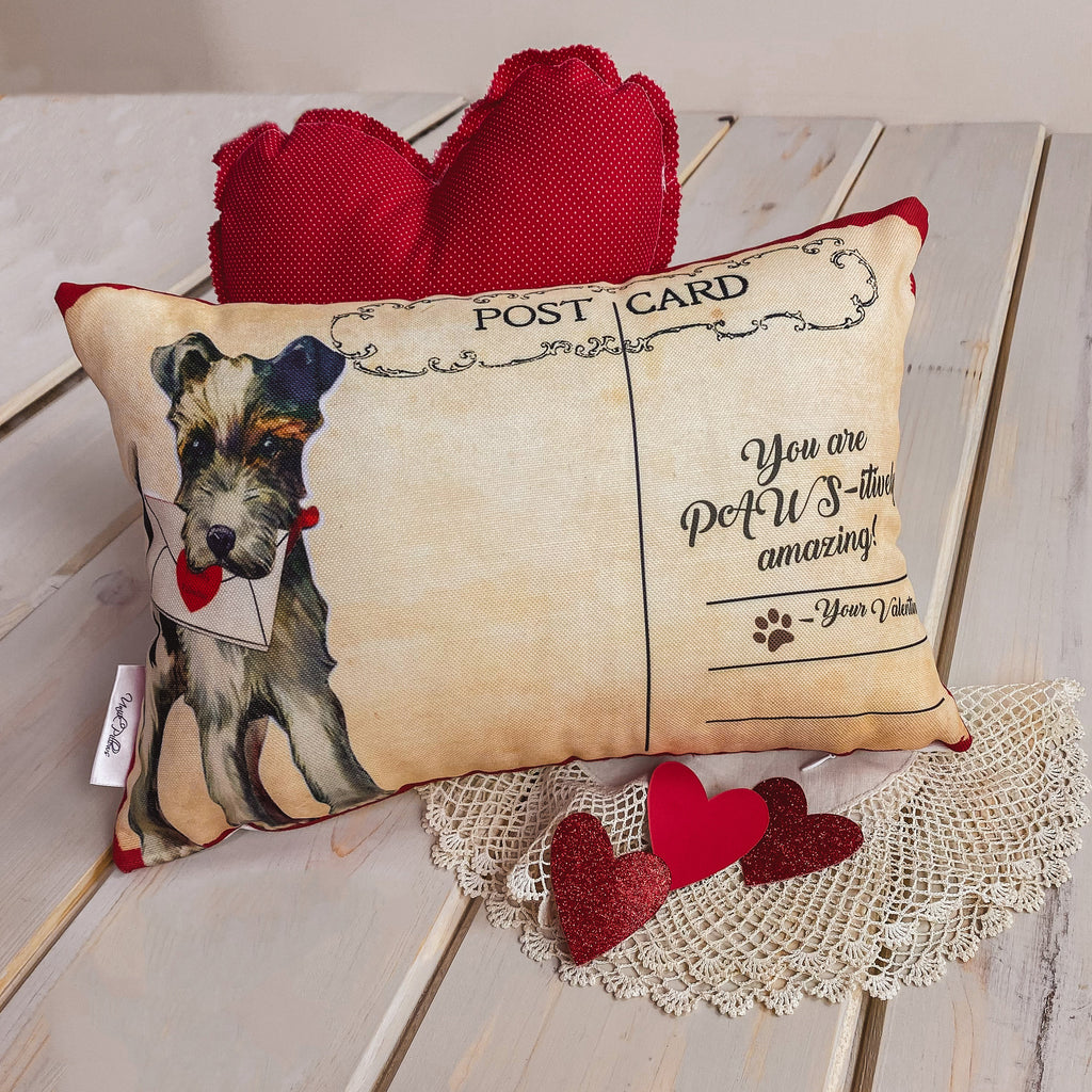 You are Paws-itively amazing Vintage Valentines | 18x12 Pillow Covers | Valentine card motifs