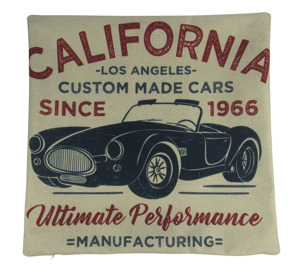 California Custom Cars | Pillow Cover |  Throw Pillow | Dad Gift | Classic Car | Shelby Cobra | Gift Ideas | Pillow | Hot Rod | Room Décor