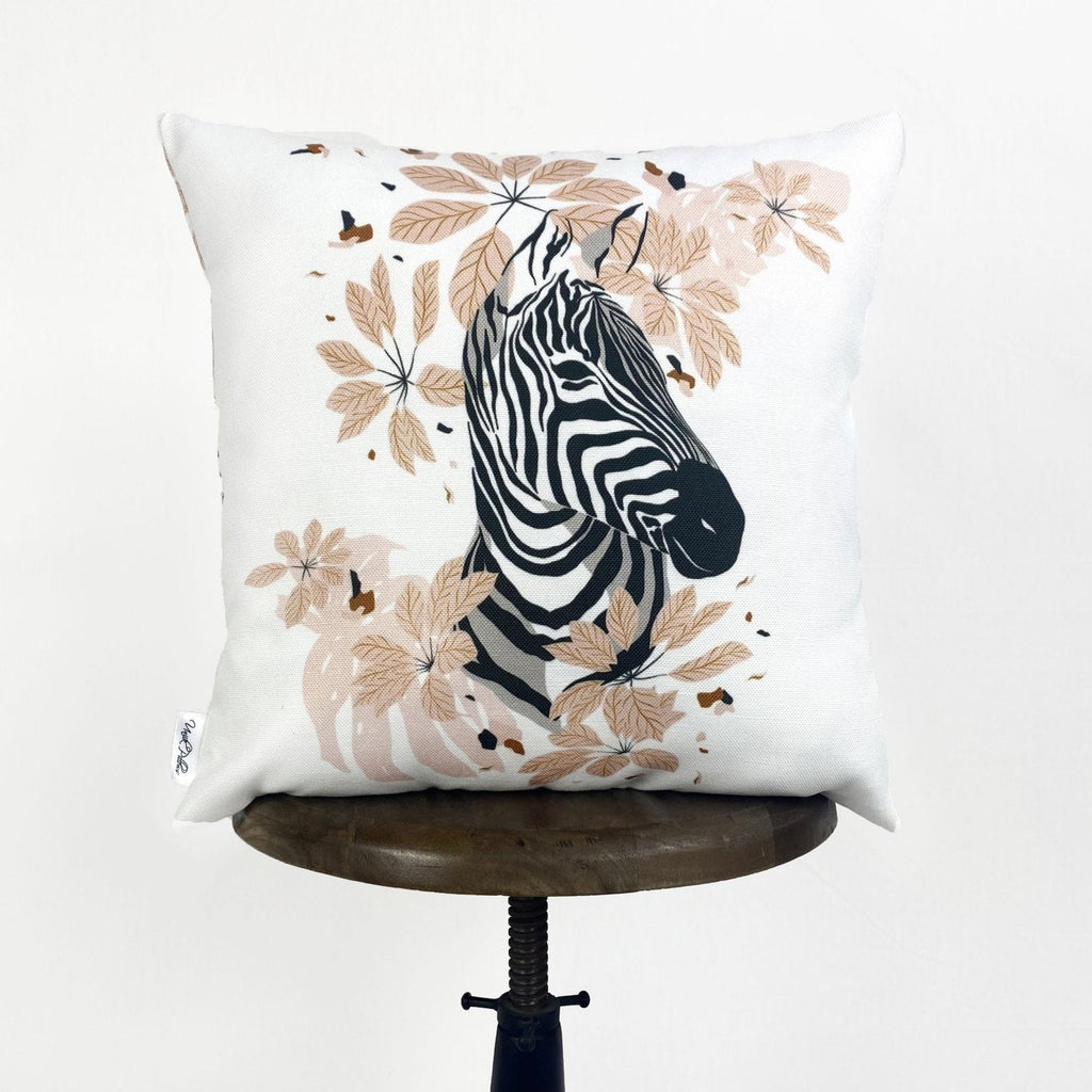 Zebra Face | Zebra Decor | Zebra Print | Leaves | Decorative Pillows | Mom Gift | Home decor | Room Decor | Bedroom Decor | Throw Pillows