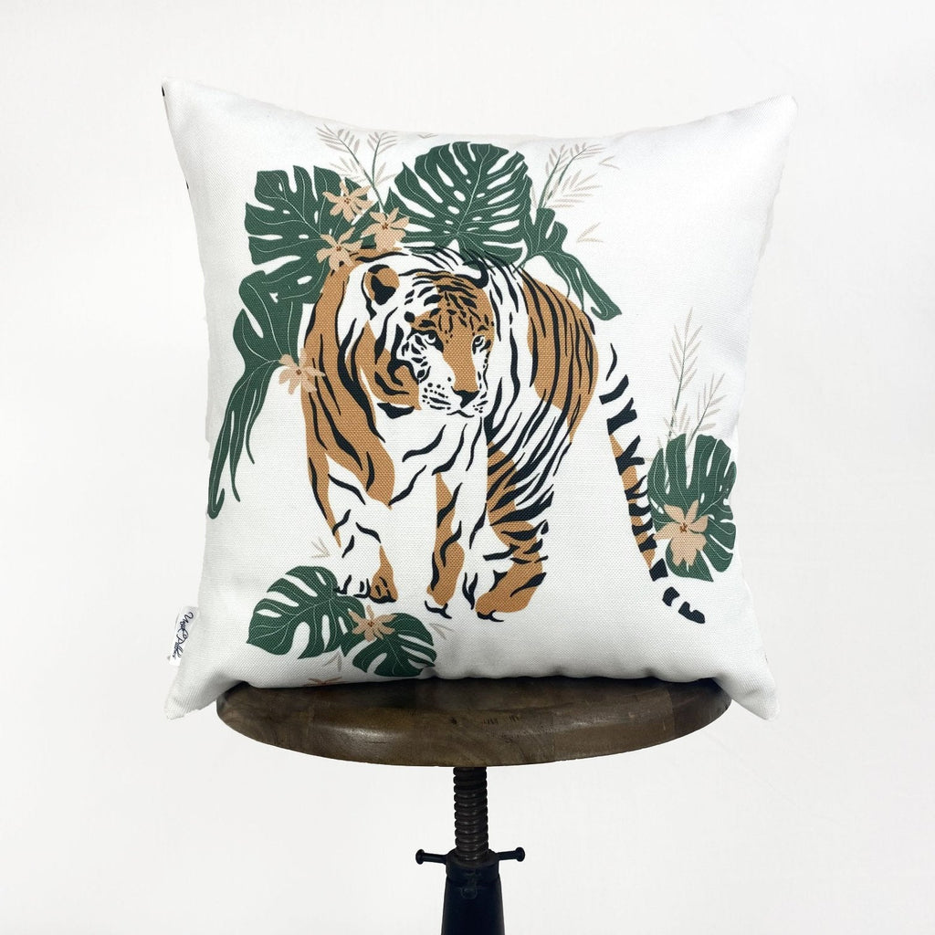 Tiger | Tiger Decor | Tiger Print | Leaves | Decorative Pillows | Mom Gift | Home decor | Room Decor | Bedroom Decor | Throw Pillows