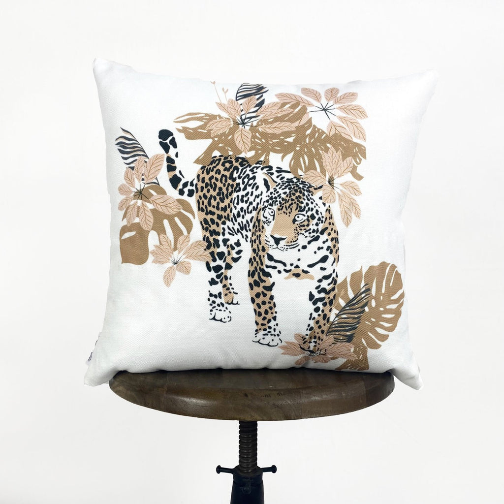 Leopard | Leopard Decor | Leopard Print | Leaves | Decorative Pillows | Mom Gift | Home Decor | Room Decor | Bedroom Decor | Throw Pillows