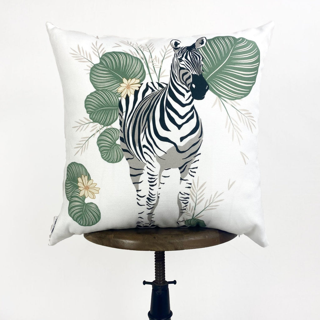 Zebra | Zebra Decor | Zebra Print | Leaves | Decorative Pillows | Mom Gift | Home decor | Room Decor | Bedroom Decor | Throw Pillows
