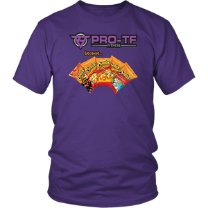 Pro-TF: Because... Cheetos - District Unisex Shirt