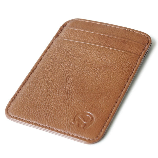 Retro Genuine Leather Minimalist Wallet - Shop King Now