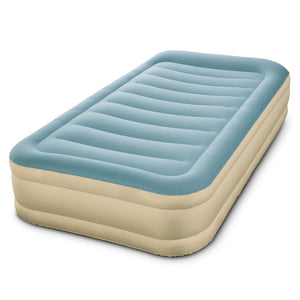 Bestway Inflatable Bed with Carry Bag - Light Blue & Beige