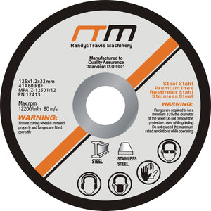 "125mm 5"" Cutting Disc Wheel for Angle Grinder x100"