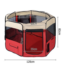 Pet Dog Puppy Cat Exercise Playpen Crate Cage Tent Red