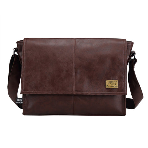 Designer Handbags Men s 14 inch Laptop Bag Male PU Leather Messenger Bags  Men Travel School Bags 5bafe3242e4ff