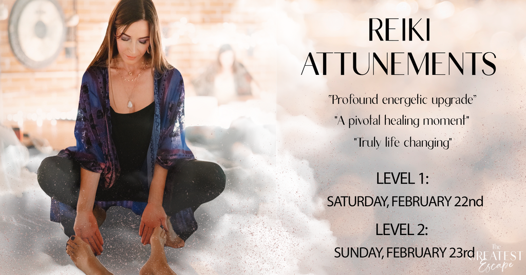 San Diego: Reiki Level 1 and Level 2 Attunements, February 22nd & 23rd, 2020