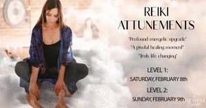 Los Angeles: Reiki Level 1 and Level 2 Attunements, February 8th & 9th, 2020