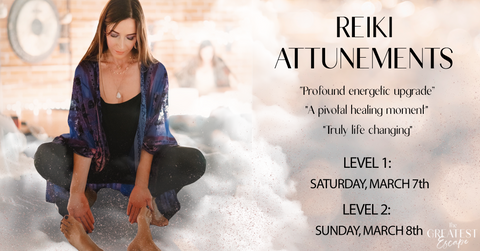 San Diego: Reiki Level 1 and Level 2 Attunements, March 7th & 8th, 2020