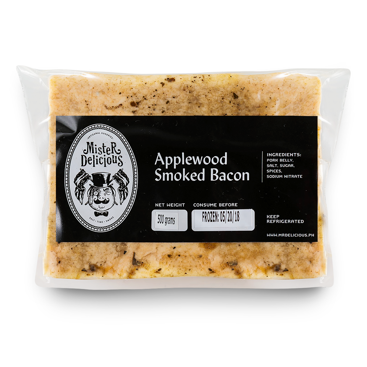 Applewood Bacon Slab (500g) - Mister Delicious