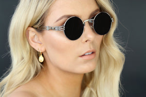 GOLD EYEWEAR THE OGs SUNGLASSES - BLACK/SILVER