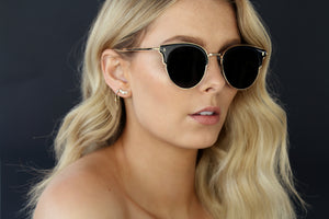 GOLD EYEWEAR SELF MADE SUNGLASSES - BLACK/GOLD