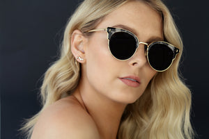 GOLD EYEWEAR SELF MADE SUNGLASSES - MARBLE