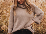 Oversized Chunky Sweater in Mocha