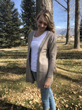 Boyfriend Cardigan Sweater in Sand