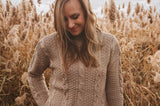 Stormy Knit Sweater in Taupe