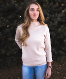 Sage Cowl Neck Sweater in Beige