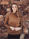 Sage Cowl Neck Sweater in Camel