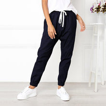Casual Loose Drawstring Ankle Banded Pants - lolabuy
