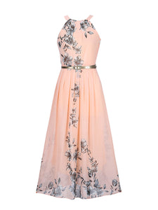 Summer Floral Printed Chiffon Maxi Dress - lolabuy