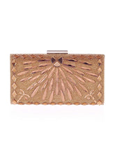 Gold Geometric Crystal Evening Clutch Bag - lolabuy