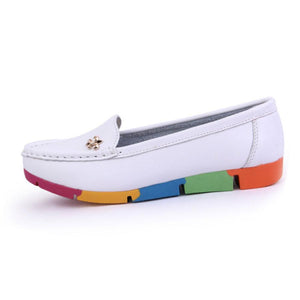 Plain  Low Heeled  Faux Leather  Point Toe  Casual Flat & Loafers - lolabuy